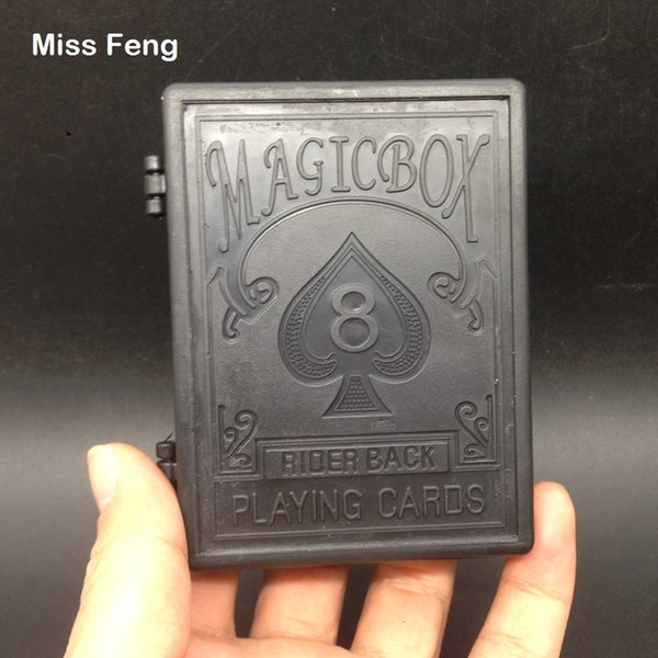 Fun Model Black Magic Box Props Restore Playing Card Magic Trick Game Children's Toys Kids Gifts