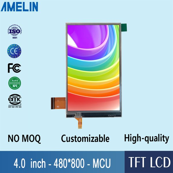 4 inch 480*800 TN Viewing TFT LCD Module Display with MCU interface screen and RTP touch screen panel