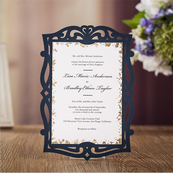 Wedding Invitations Cards Laser Cut Wedding Invitations Elegant Business Greeting Happy Birthday Card To Wedding Rsvp Card Cheap Wedding Shower