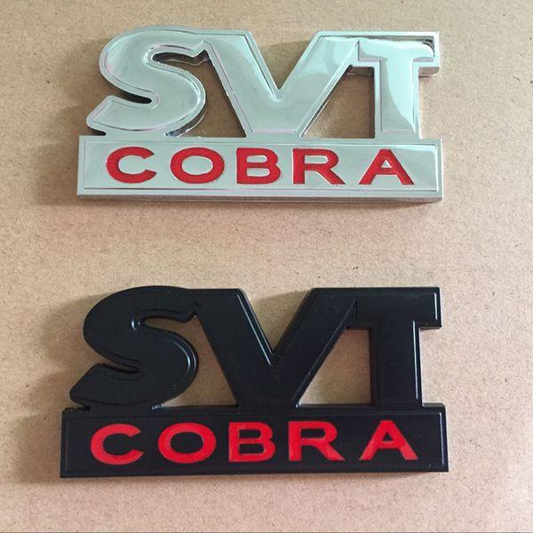 Car Styling 3D Metal SVT COBRA Rear Trunk Emblem Badge Decal Sticker for Ford Mustang GT V6