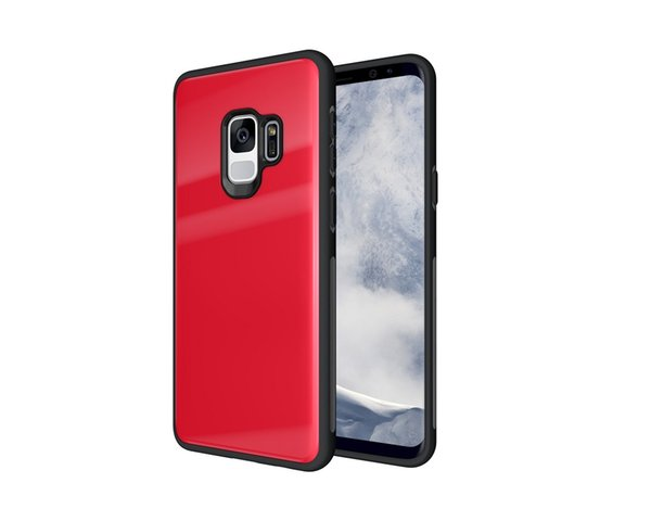 Luxury case for Samsung S9 Soft TPU Tempered Glass Back Cover Phone Case For Samsung Galaxy S9 S9 plus