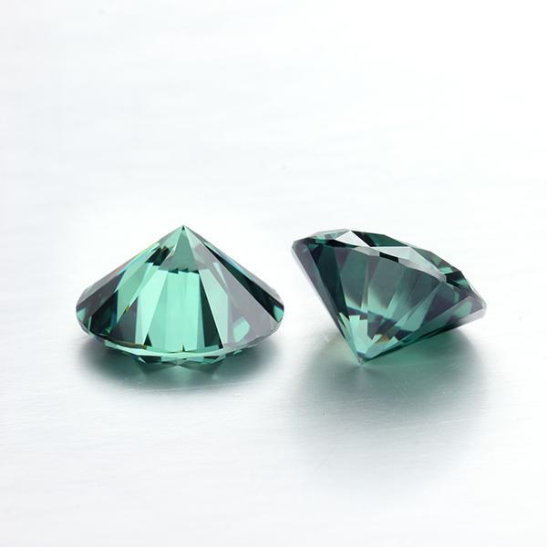 Yuvarlak şekil Yeşil renk 4.0mm 0.25 karat moissanites gevşek taşlar taşlar takı yapımı testi için pozitif