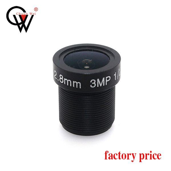 CW Security& Surbeillance CCTV Board lens 2.8mm F1.8 115degree 1/2.5 3MP M12 mount Fixed Iris