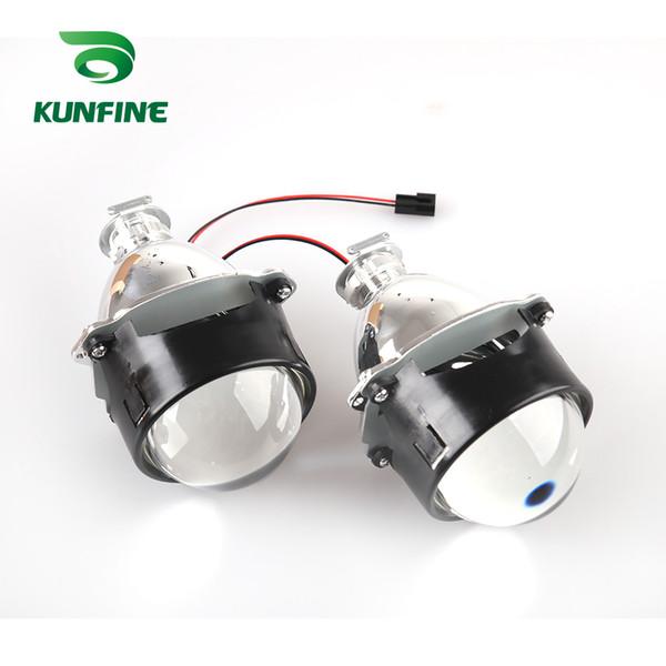 KUNFINE 1 par de 3.0 pulgadas Bi-Xenon HID Projector Lens del coche de haz alto / bajo para faros halógenos o faros de xenón