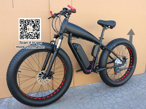 Dağ bisikleti fiyat elektrikli yağ bisiklet 48 v 21 hız 10A / 15A / 18A motor 4.0 bisiklet yağ lastik dağ bisikleti 26 inç