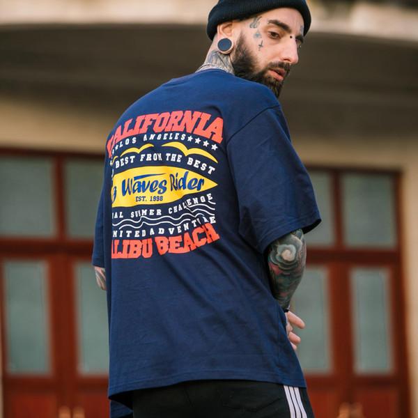 Solta impressa mangas curtas das mulheres dos homens de mangas compridas bottoming camisas de rua hip hop trajes de rua
