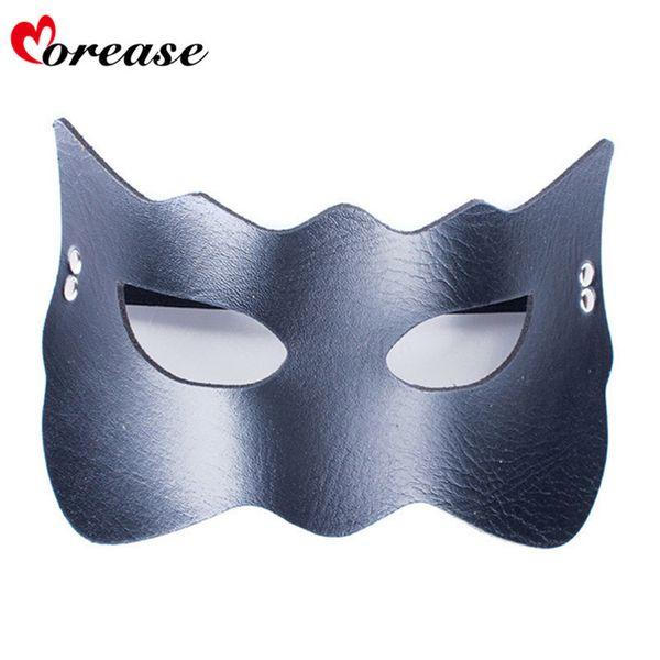 Morease Sexy Eye Mask Blindfold Bondage PU Leather Fetish Slave Erotic Cosplay Adult Game Sex Toys Bdsm Product For Women S924
