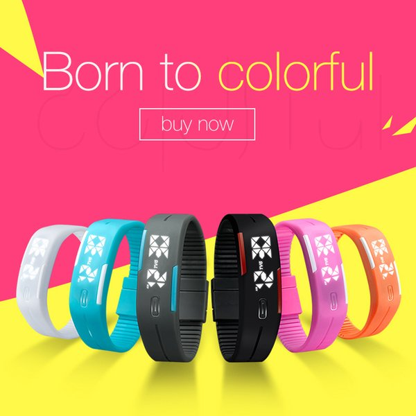 TVG Luxury Smart Digital Watch for Girl Silicone Bracelet watches 2018 New design Fashion Sports Wristwatches with Gift Box