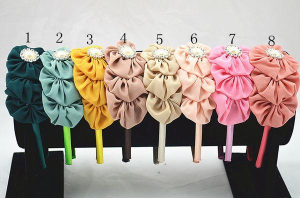 24pcs bear Hairbands crown gauze hair accessories for the beautiful girl Princess cartoon arches of hoop bands headband FG030-2