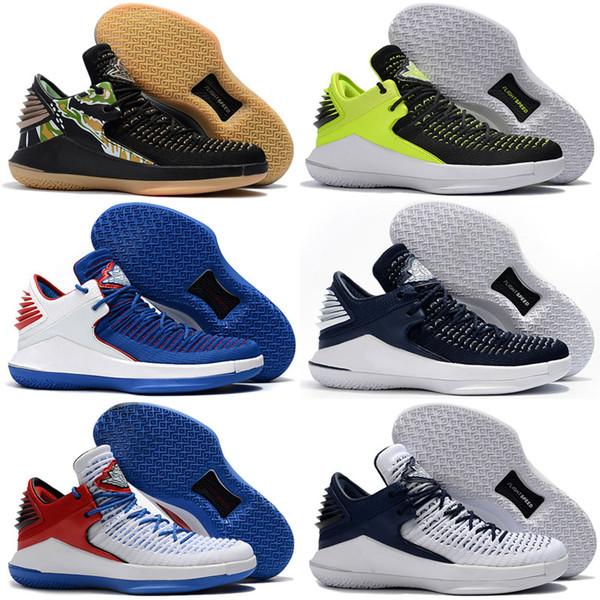 Jumpman 32 Scarpe da pallacanestro da uomo con taglio alto Nero Oro Rosso Giallo Blu Grigio Sport Migliori scarpe da corsa Sneakers sportive 32s