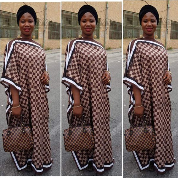 best selling Dree Length 128cm,Bust:176cm New Fashion Dress For Women Elegant Oversized Dress African Print