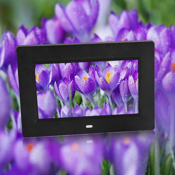 7inch 800 * 480 Slim Digital Electronic Picture Photo Album studio Frame With Remote Control Camera Photo Accessory