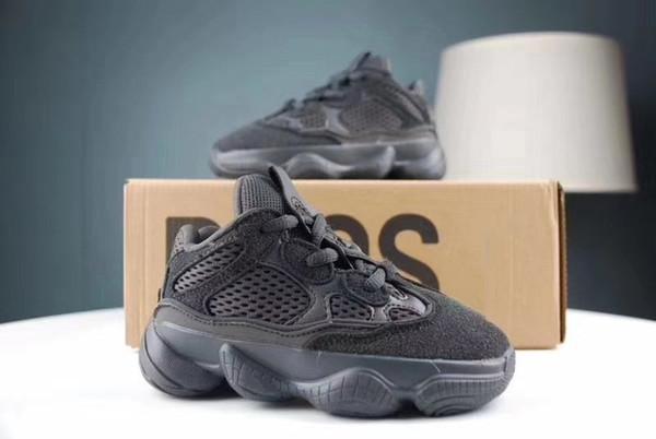 Yüksek kalite bebek bebek 500 ayakkabı siyah pembe erkek kız genç çocuk okul öncesi sınıf-schooler 500 s koşu sneaker eğitmenler 9C-3Y