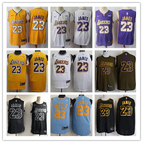 timeless design 3910b 6f29e 2018 New Mens 23 Lebron James Los Angeles Jersey Lakers Basketball Jersey  Authentic Stitched Mesh Dense Au Lakers Lebron James Basketball Jerseys  From ...