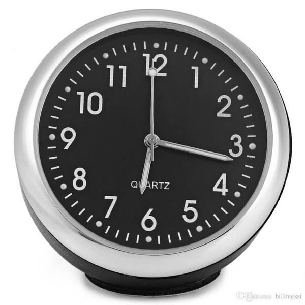 Alta Qualidade Luminova Mecânica de Carro Relógio de Quartzo Mini Noctilucent Relógio Digital Pointer para Auto Decoração Suprimentos Carro Relógios + B