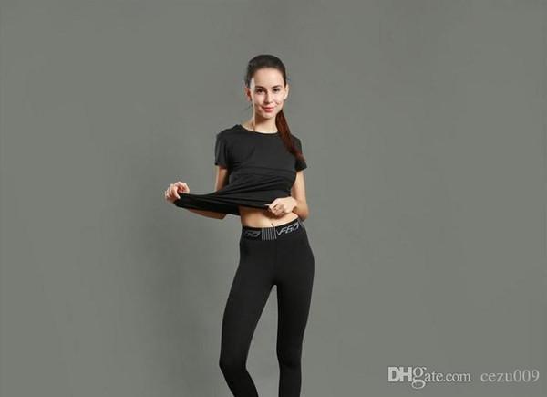 Pantaloni da yoga da donna pantaloni sportivi aderenti in esecuzione fitness completo leggings da allenamento quick dry stretch traspirante 2017 nuovi