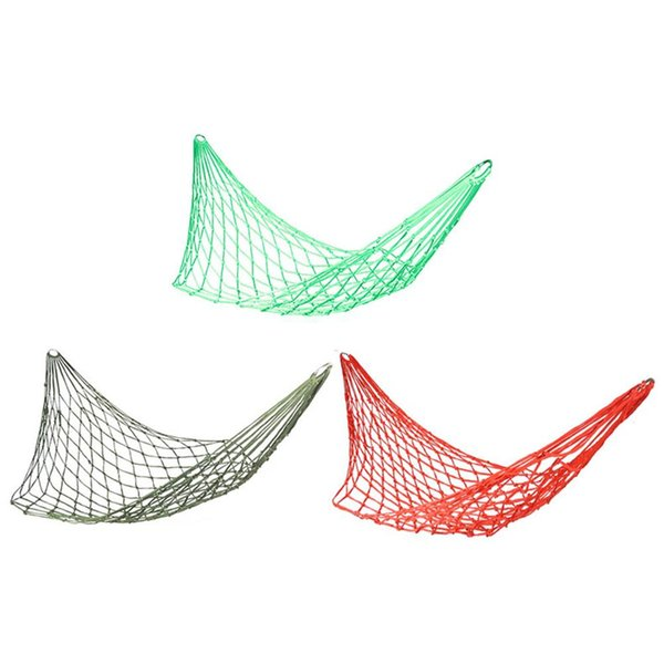 Nylon Rope Mesh Net Sleeping Hammock Hanging Travel Sleep Bed Swing Camping Gear