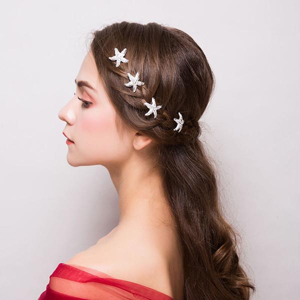 Großhandel M Mism Mode Koreanische Frauen Mädchen Blume Haarspangen Perlen Haarnadeln Kristall Frisur Werkzeug Hochzeit Braut Party Zubehör Von