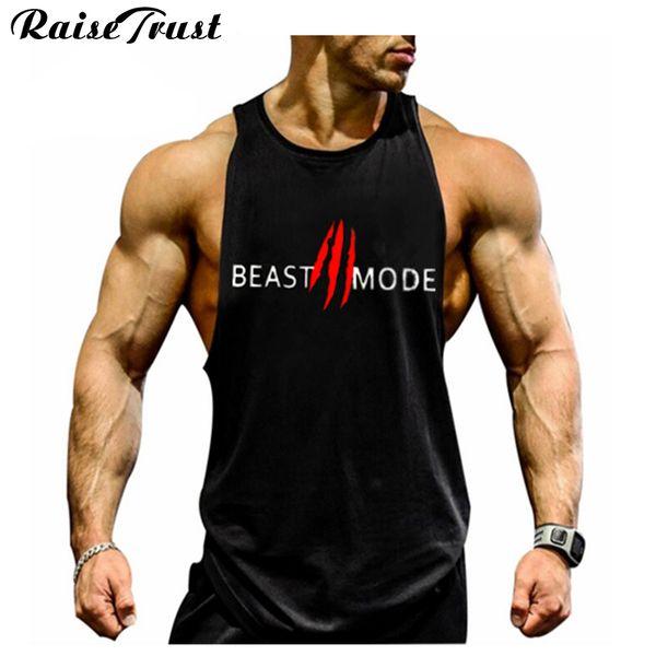 Neue 2018 mode baumwolle ärmellose shirts tank top männer fitness shirt herren singulett bodybuilding plus größe gymvest fitness männer