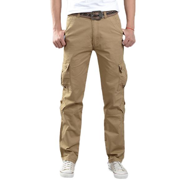 Overalls 2018 New Men Cargo Pants Fashion Able Multi-Pocket Men's Trousers Men Casual Long Pant Bottoms Plus Size 40 Trend
