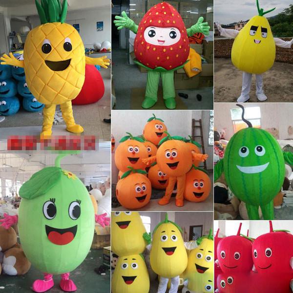 Meyve maskot kostüm Apple kabak limon karpuz karikatür kostüm yetişkin çocuk boyutu parti fantezi elbise fabrika doğrudan satış
