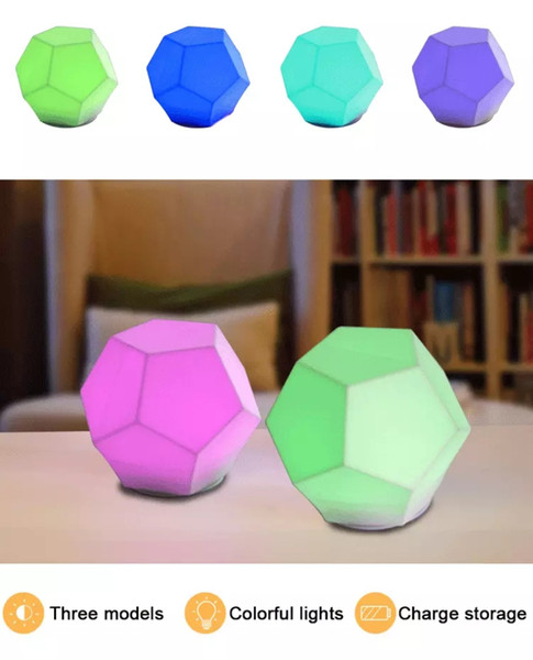 Kids Night Light 7 Colors Changing USB Rechargeable Silicone Soft Baby Nursery LED Night Lamp Breathing 3 Modes Dimmiable Bedroom Table Ligh