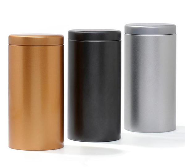 100pcs/lot 100g Tin Round Pot Tea Packing Tube Metal Tea Storage Bottle 175*85MM Tea Coffee Dry-fruit Cookies Jar SN1646