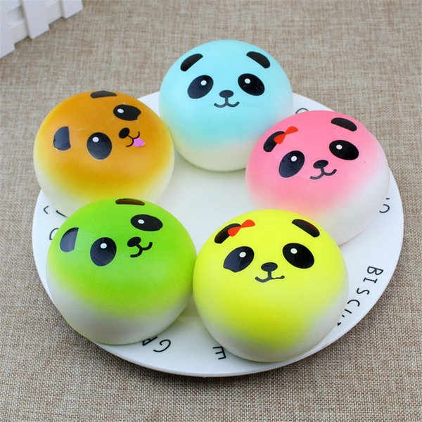 Slow rebound squishy simulation bread cake PU without fragrance 10 cm colorful bread