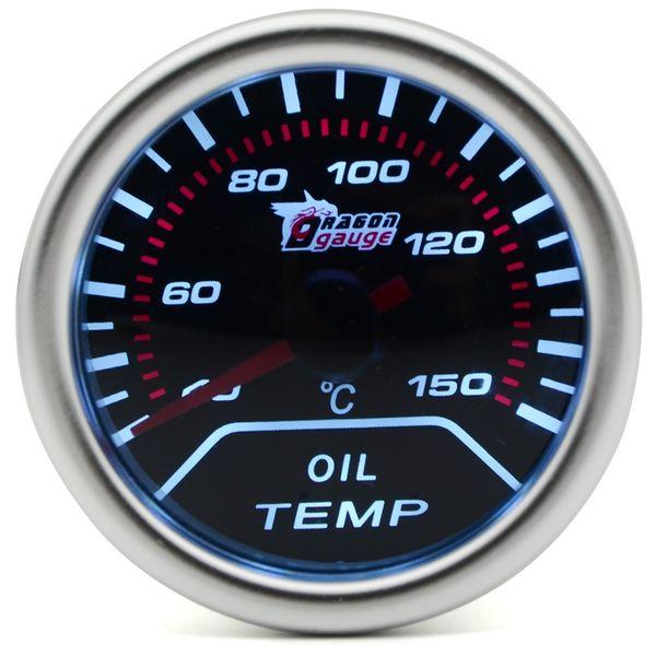 2 inch 52MM Universal Oil Temperature Car Gauge 40-150 C Meter Auto White LED