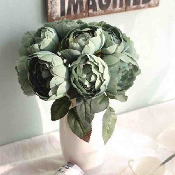 Artificial flower beautiful round rose bouquet wedding or party decor or valentine day