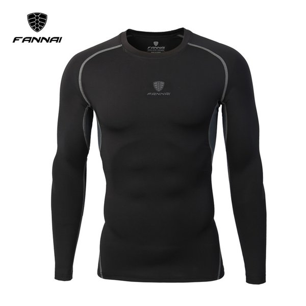 ace7608bb685 2018 Fannai Gym Clothing Pro Fitness Sports Tights Elastic Long Sleeve  Quick Dry Breathable Top Running Training Bodybuilding T Shirt M 4xl From  ...
