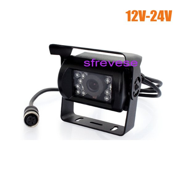 4Pin CCD Bus Trailer IR Night Vision Car Rear View Reverse Parking Backup Camera Bus Truck Waterproof 12V-24V