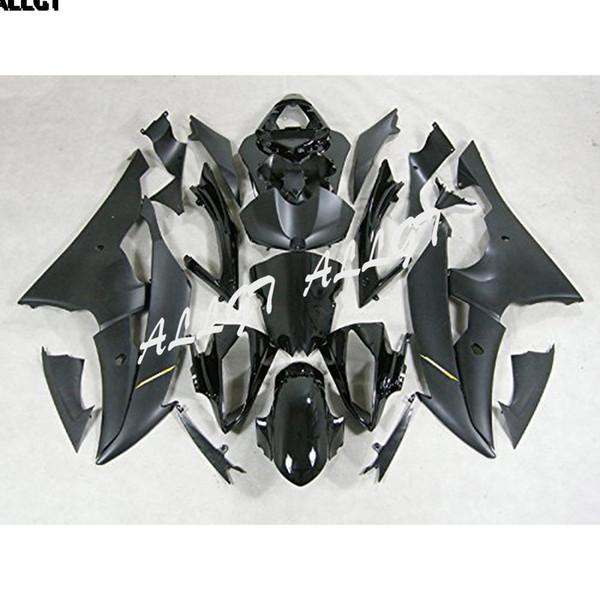 Kits de carenado para moldeo por inyección de plástico para 2008-2016 Yamaha YZF-R6 (negro mate)
