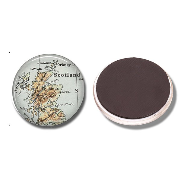 Scotland Map 30 MM Fridge Magnet Edinburgh Highlands Map Glass Cabochon Magnetic Refrigerator Stickers Note Holder Home Decor