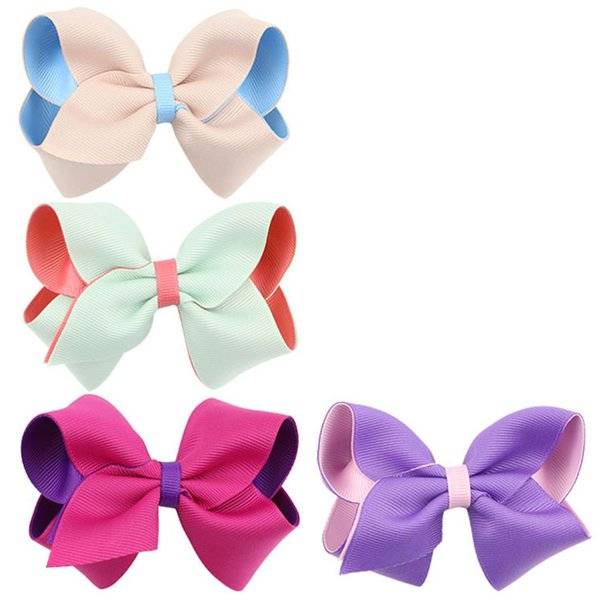 7Pcs Child Kids Baby Girl Bowknot Hairband Headwear Hairpin Elastic Hair Clip QL