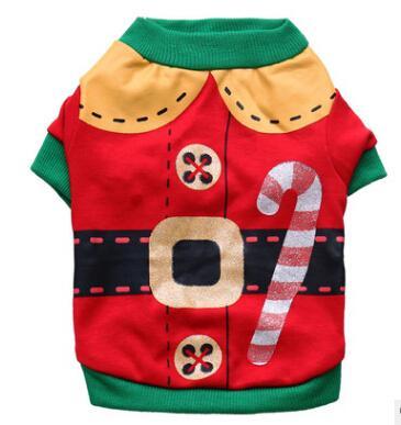 جميل عيد الميلاد كلب تي شيرت الخريف الشتاء لطيف الكلب سترة عيد الميلاد جرو الدافئة ازياء الحيوانات الأليفة الملابس