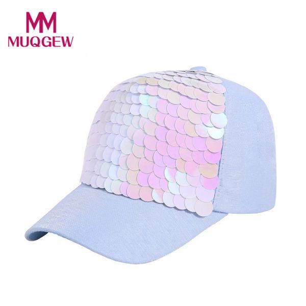 MUQGEW baseball cap women 2018 summer glitter Sequin baseball cap for girl branded fashion hip pop snapback hats