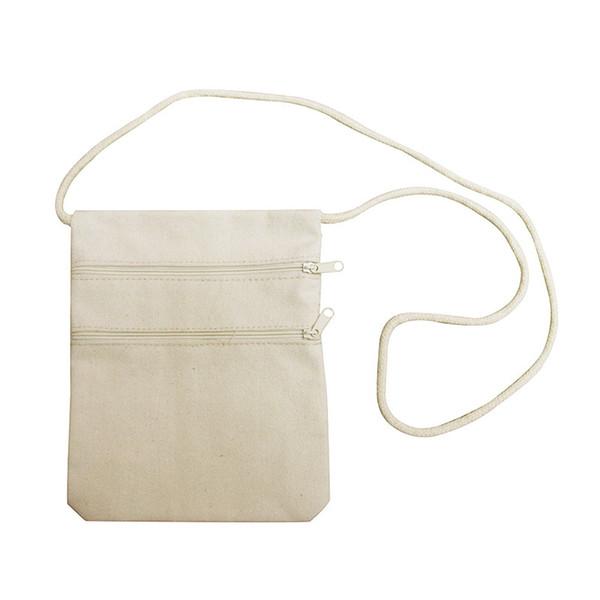100pcs/lot blank canvas zipper pouches cotton cosmetic Bags makeup bags Mobile phone clutch bag messenger bags