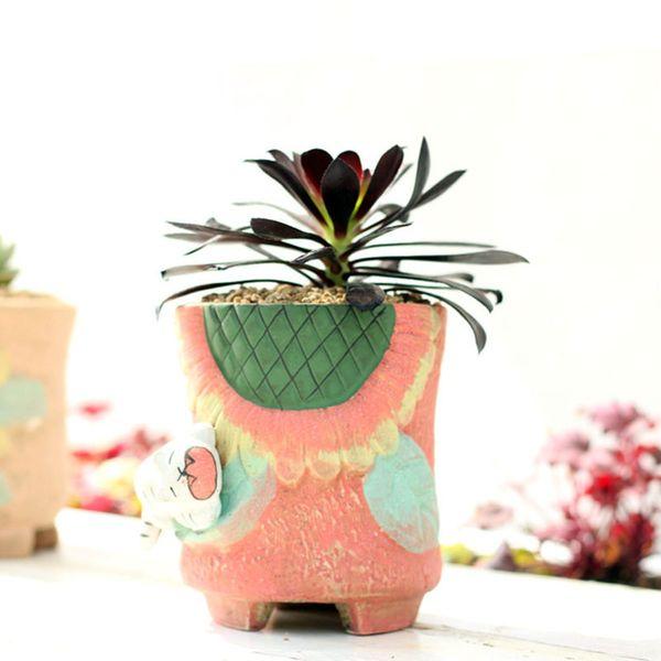 Großhandel Bunte Keramik Blumenvase Desktop Boden Pflanzer Vase ...