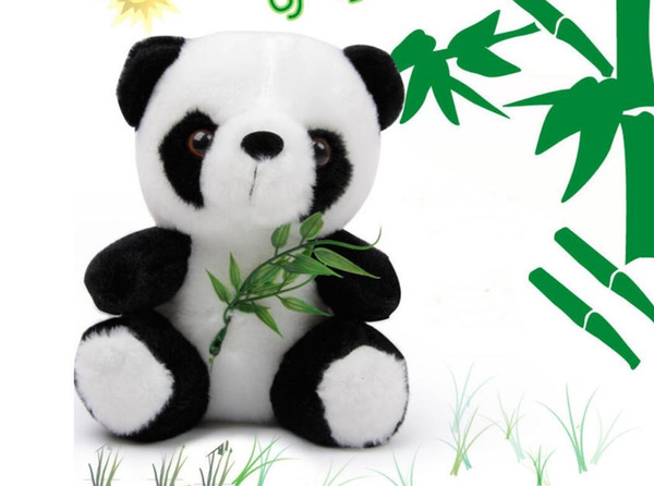 Giant Panda Plush Toy Bamboo Leaf Panda Little Doll Annual Meeting Activity Gift Baby Toys Pacify Doll Stuffed & Plush Animals