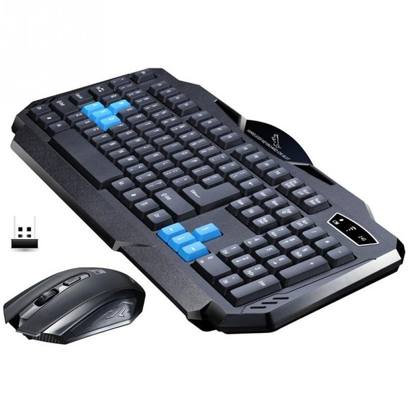 2017 New Arrival Wireless Suit Office Home 2.4 GHz Wireless Keyboard Mouse USB Receivers Set Waterproof Keyboard Set For PC