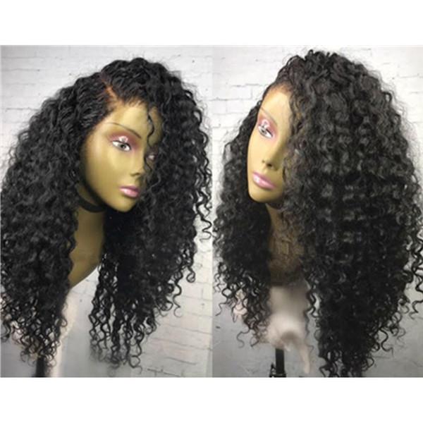 Человеческие волосы парик шнурка черный кудрявый вьющиеся длинные парик 150% плотность природных волосяного покрова бразильский Glueless кружева фронт человеческих волос парики для чернокожих женщин