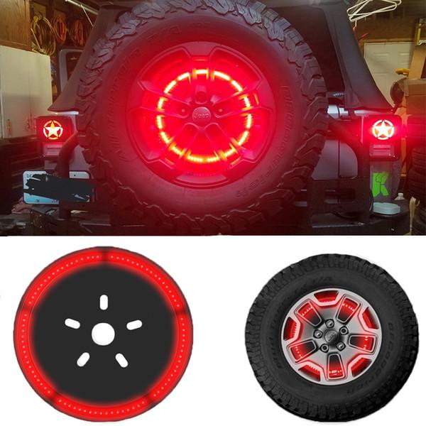 top popular Spare Tire Brake Light Wheel Light LED 3rd Third Brake Light Lamp Ring for Jeep Wrangler 1997-2018 JK TJ LJ YJ CJ JL 2019