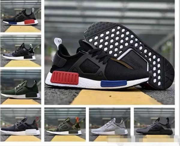 2018 NMD XR1 Primekint Blue White Captain America Men Women Running Shoes Sports Designer Sneakers Olive Green Nmds XR1 PK Womens Trainers