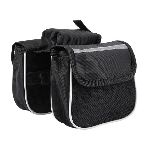 NEW Brand 2018 Black Both Side Double Pouch Clying Bags Bicycle Saddle Bag Bicycle Bag High Quality Accessories
