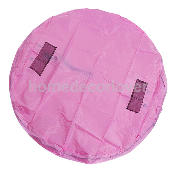 Portable Kids Play Mat Storage Bag Toys Organizer para el hogar al aire libre verde rosa