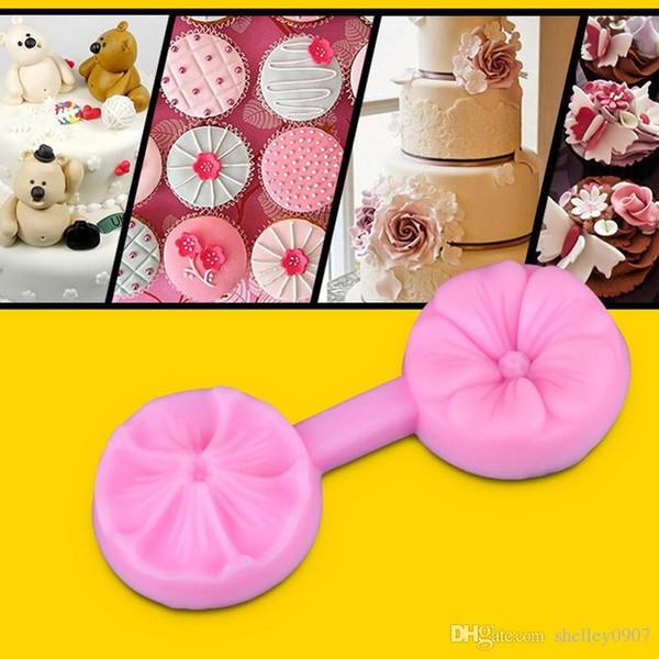 Fondant-Kuchen-Form-Dekorationsschablonenkonfekt-Zuckerpastekirsche 3D Silikonformform des Kuchenbackenwerkzeugs liefert 3 modle