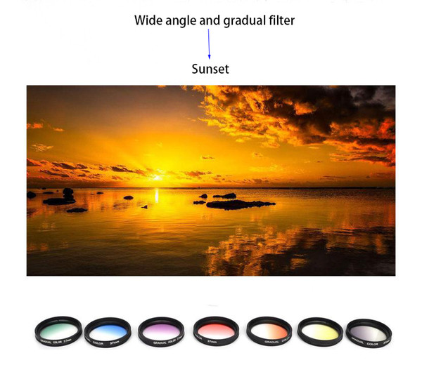 High quality 37mm mobile phone lens 12 in 1 set 0.45X wide angle 12.5X macro lens star ND8 CPL gradual filter