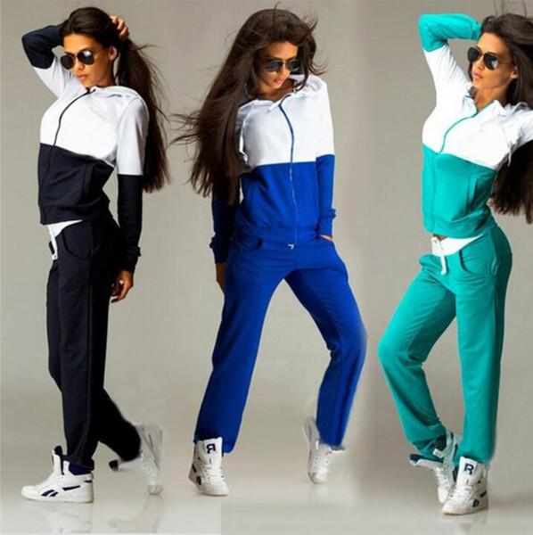 Women's Sportswear Sexy Tracksuit 2 Piece Set Sportswear Jogging Track Suit Female Sports Suits Free Shipping