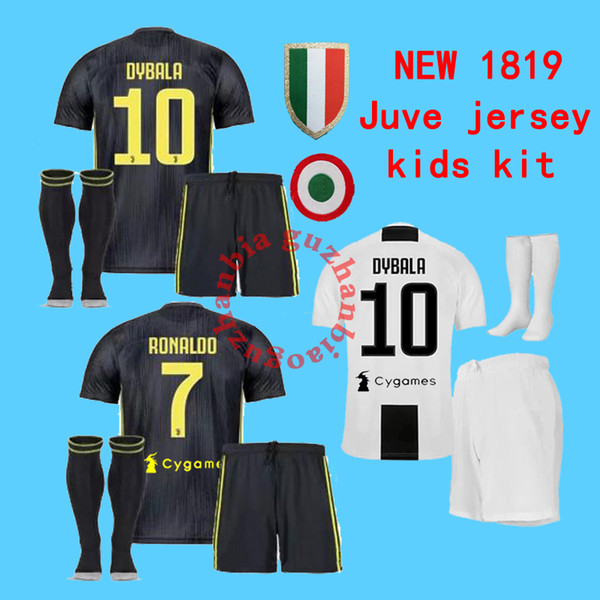 newest a3c4f 33501 2019 18 19 Kids Kit + Sock DYBALA Juve HIGUAIN Ronaldo Soccer Jersey  Children Football Shirt MANDZUKIC Camiseta 2018 2019 De Maillot From  Wang147, ...